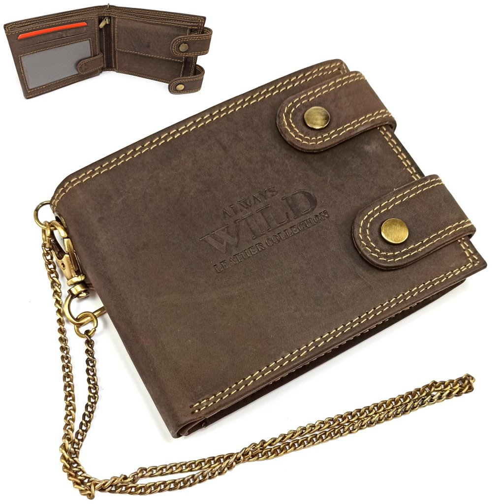 Peněženka kožená pánská s přezkou - 1