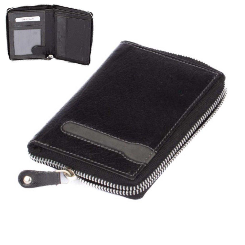 Pánská kožená peněženka zapínací - 1