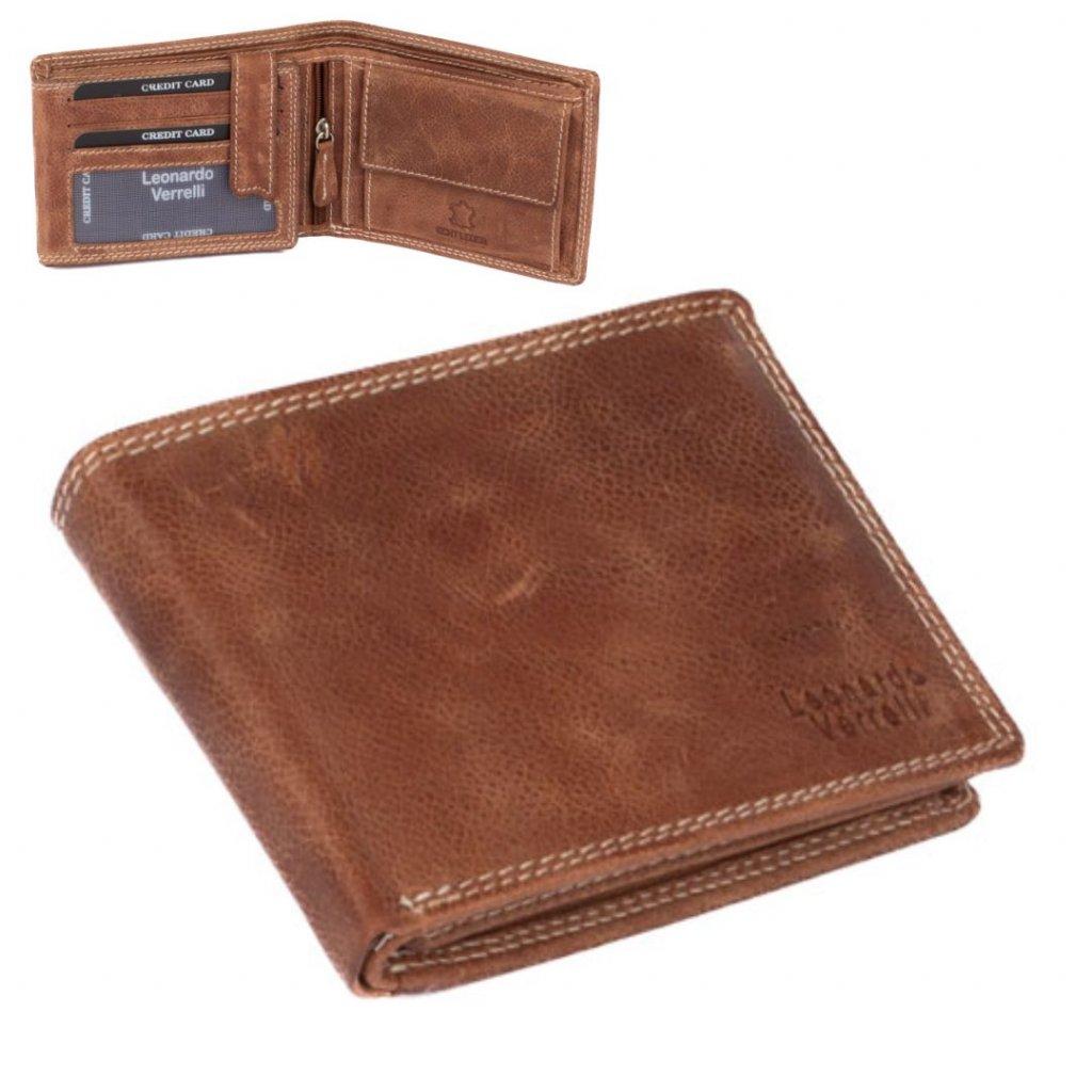 Kožená peněženka pánská světle hnědá