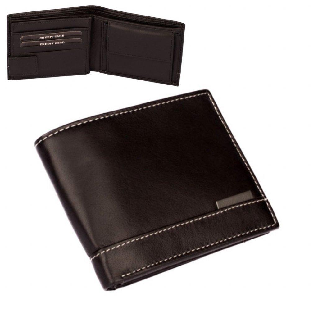 Peněženka pánská kožená černá