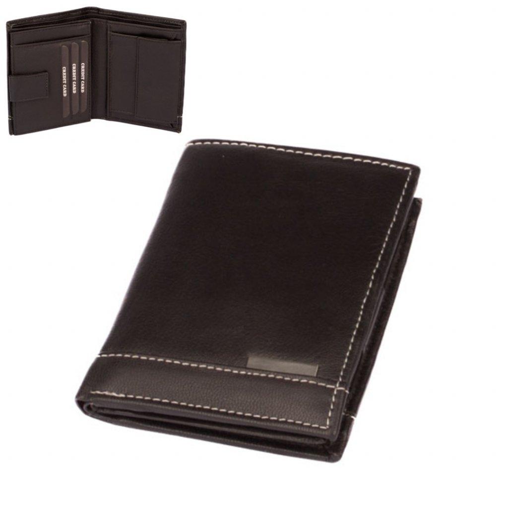 Pánská peněženka kožená černá - 1