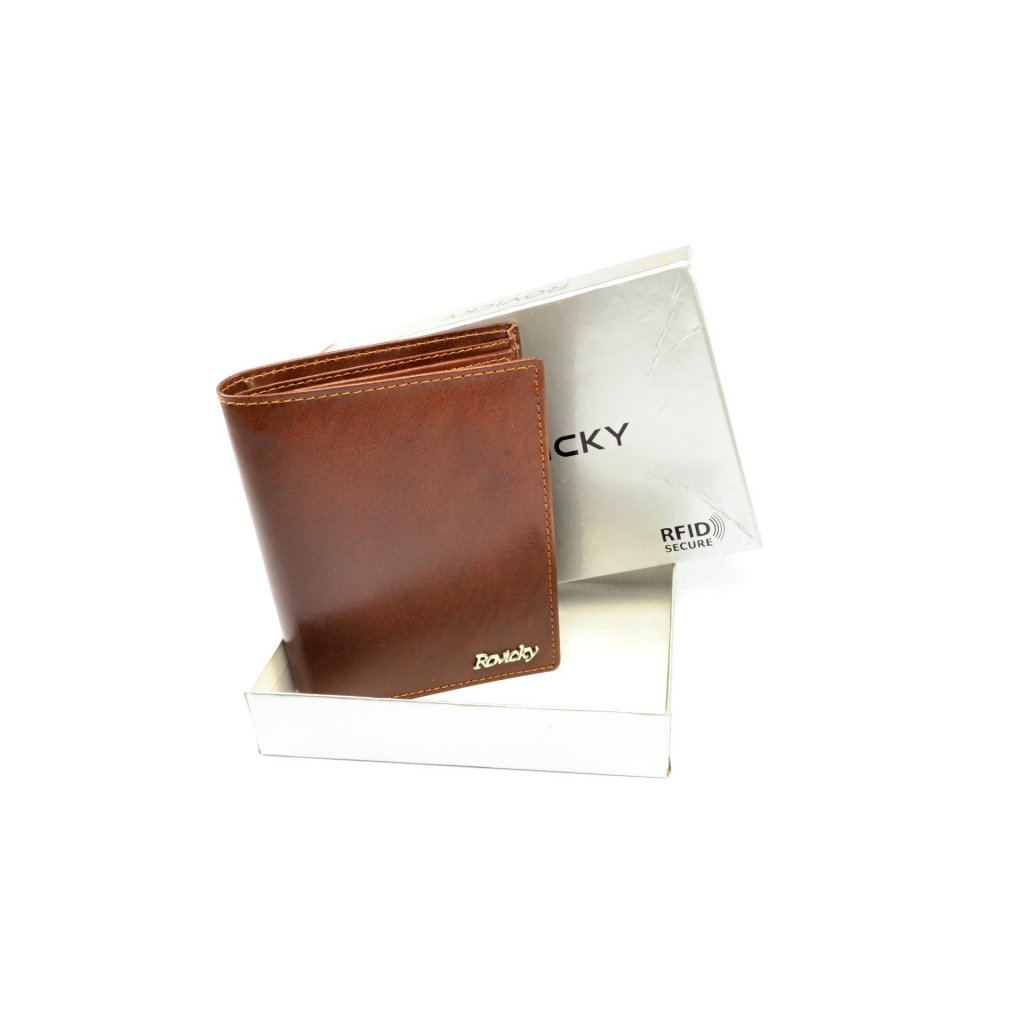 Kožená pánská peněženka hnědá - 1