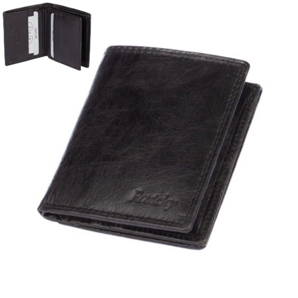 Pánská peněženka malá černá - 1