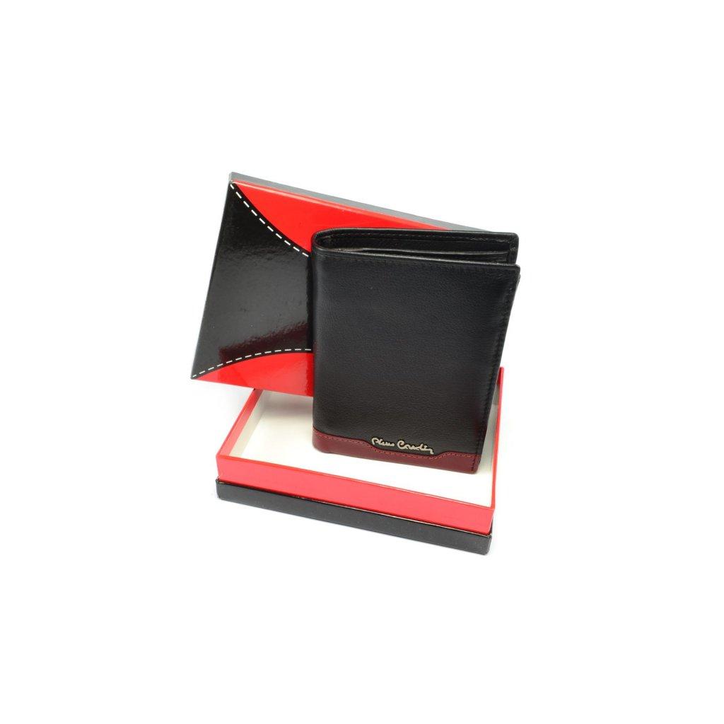 Pánská kožená černá peněženka