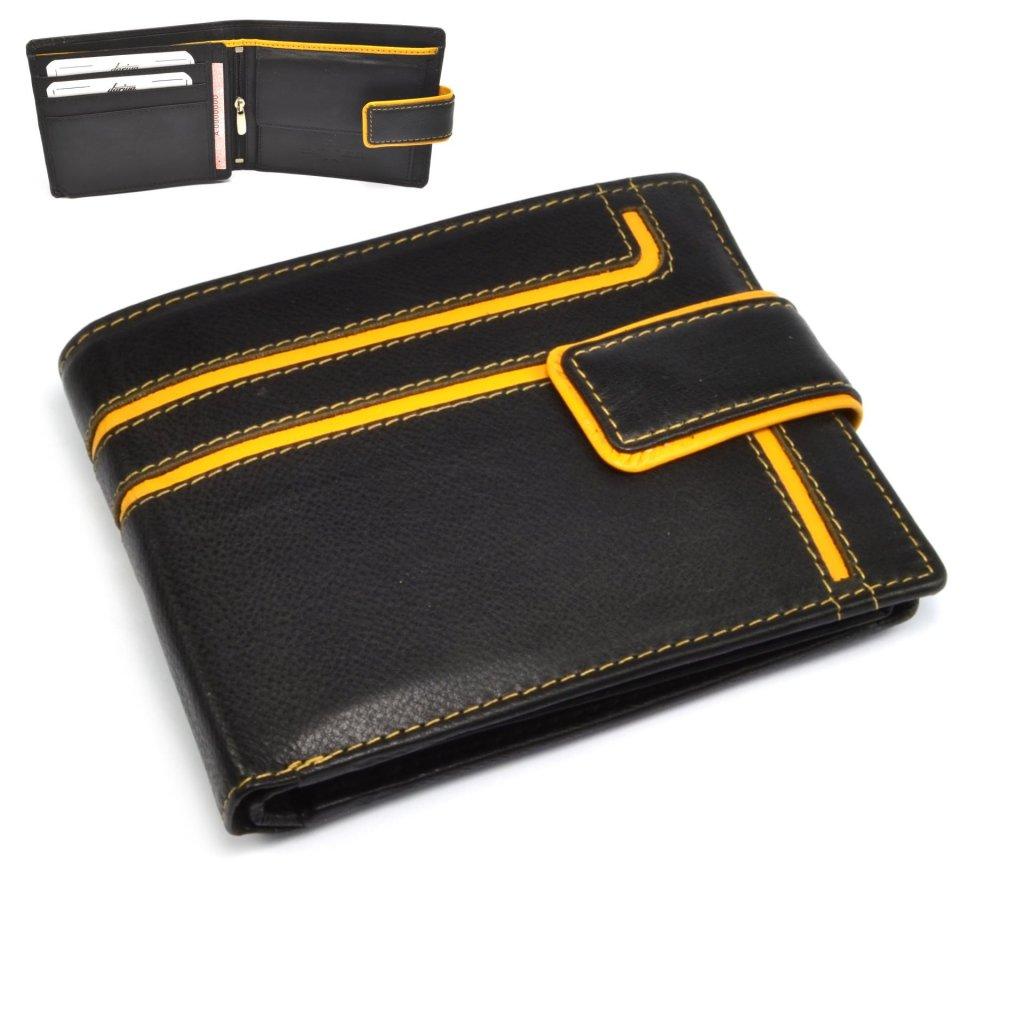 Kožená peněženka pánská s přeskou