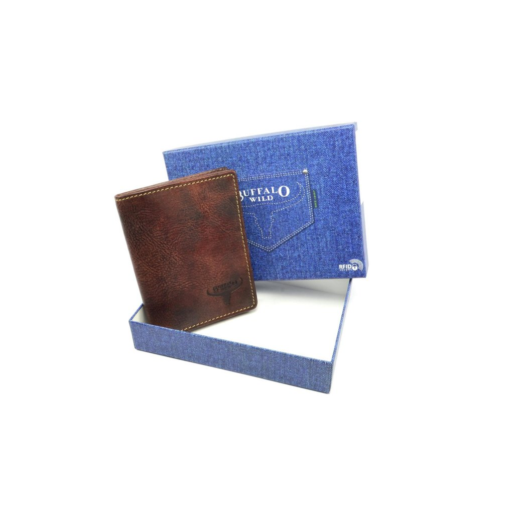 Pánská kožená peněženka malá - 1