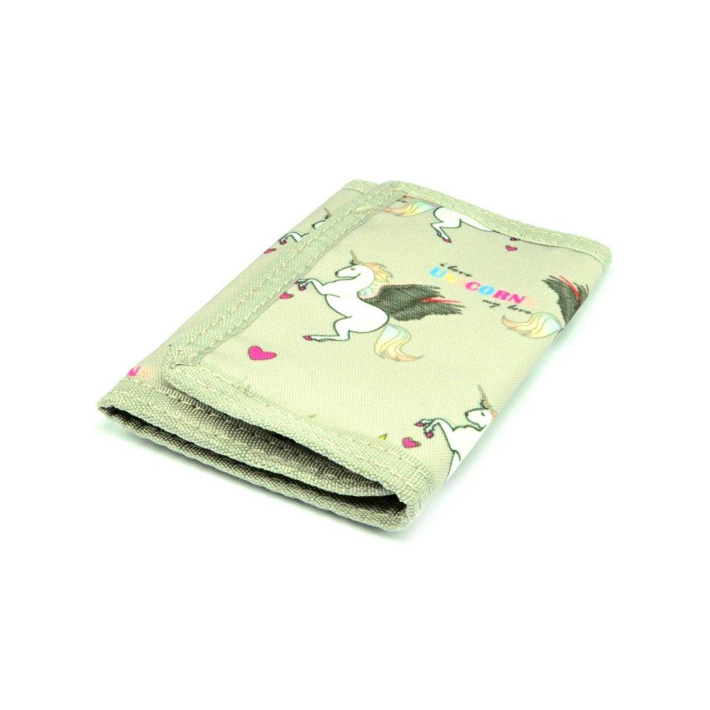 Dětská peněženka stříbrná