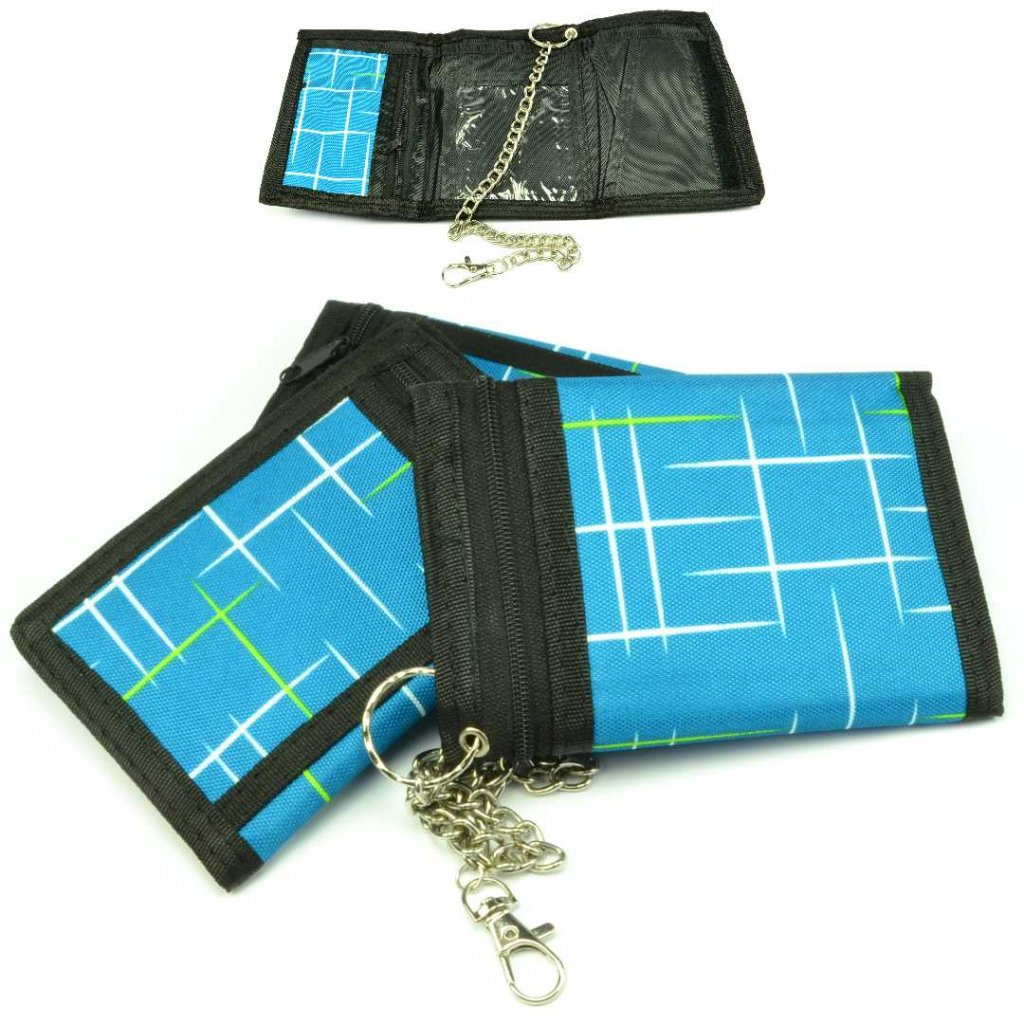 Modrá sportovní peněženka malá - 1