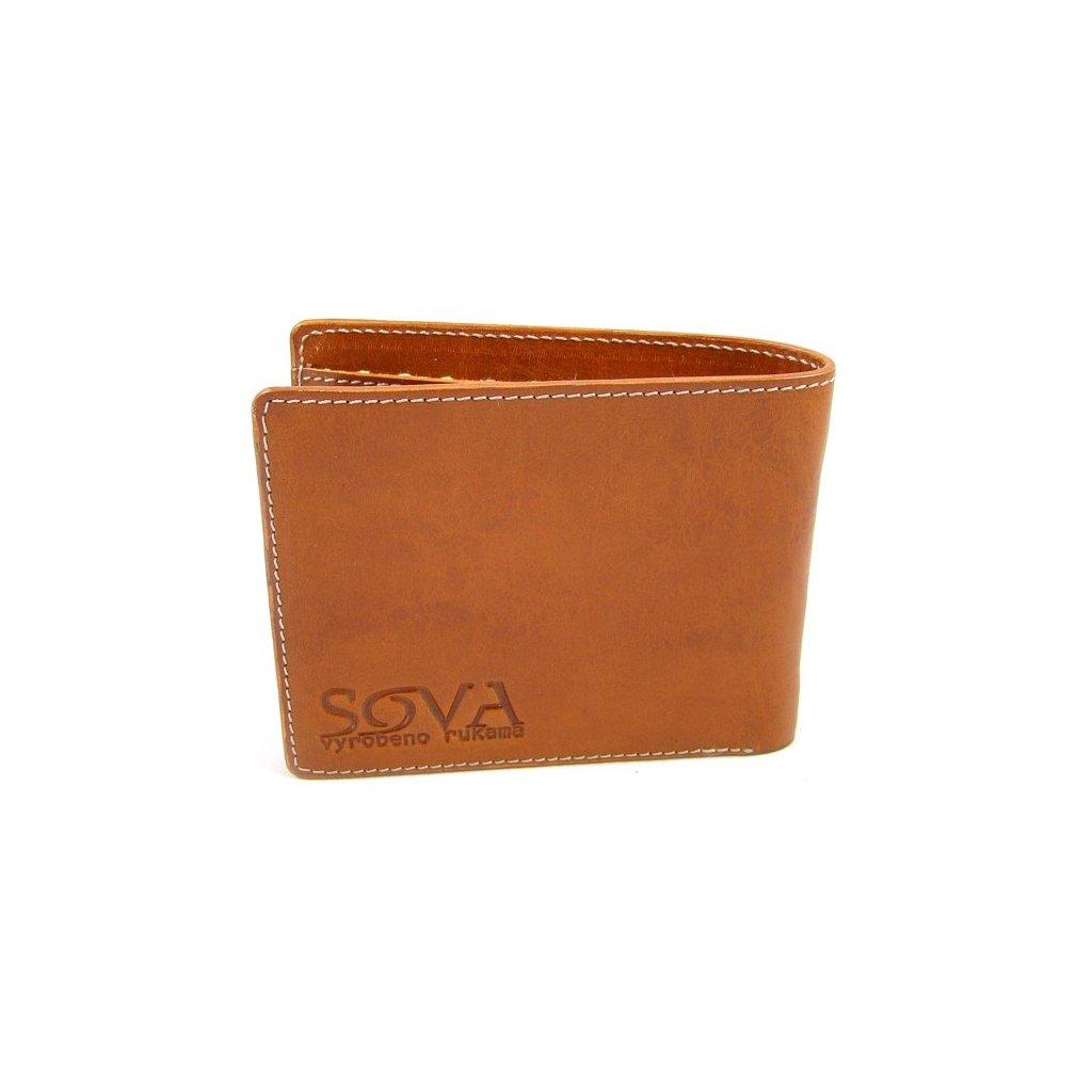 Pánská peněženka kožená TRE pro leváky Cognac