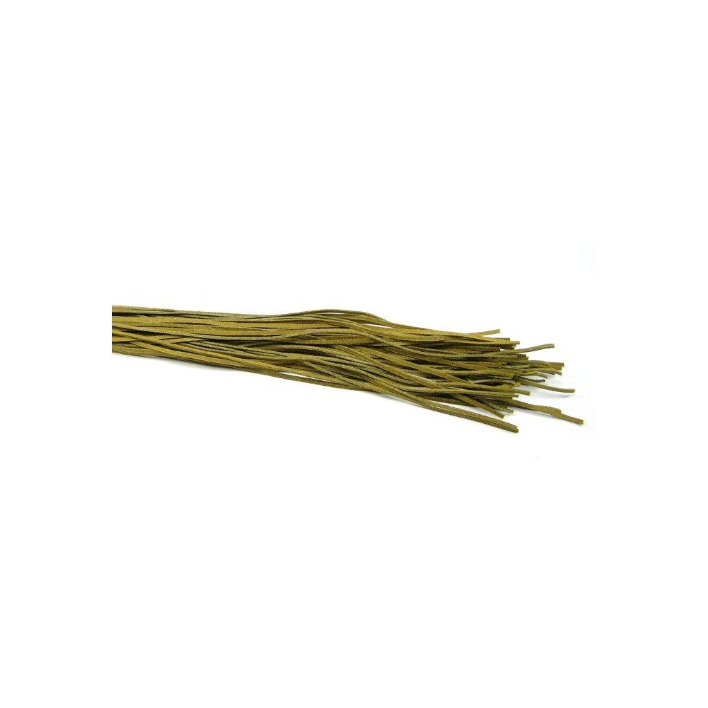 Kožený řemínek olivový 1 ks