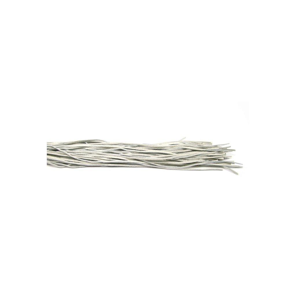 Kožený řemínek světle šedý 1 ks - 1