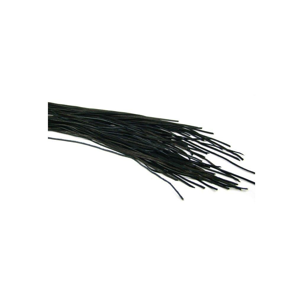 Kožený řemínek černý 5 ks - 1