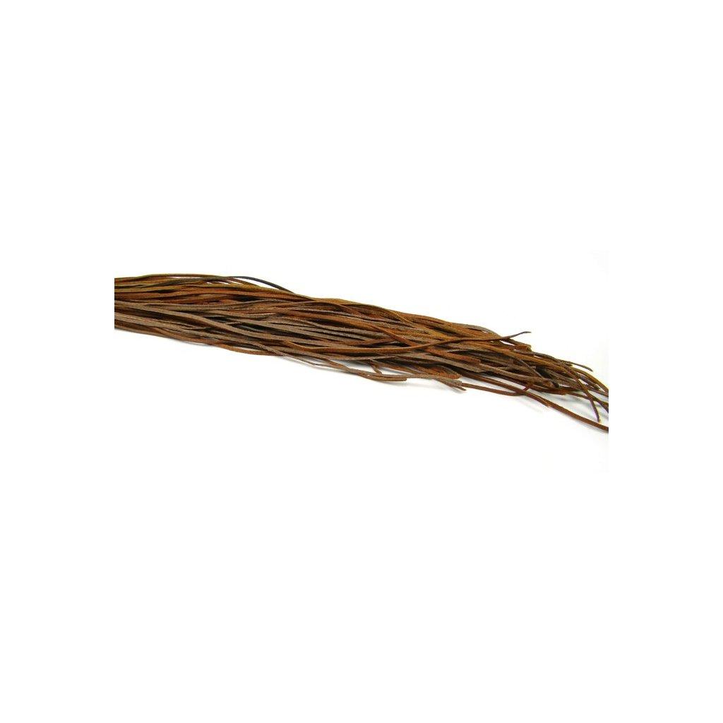 Kožený řemínek hnědý 1 ks