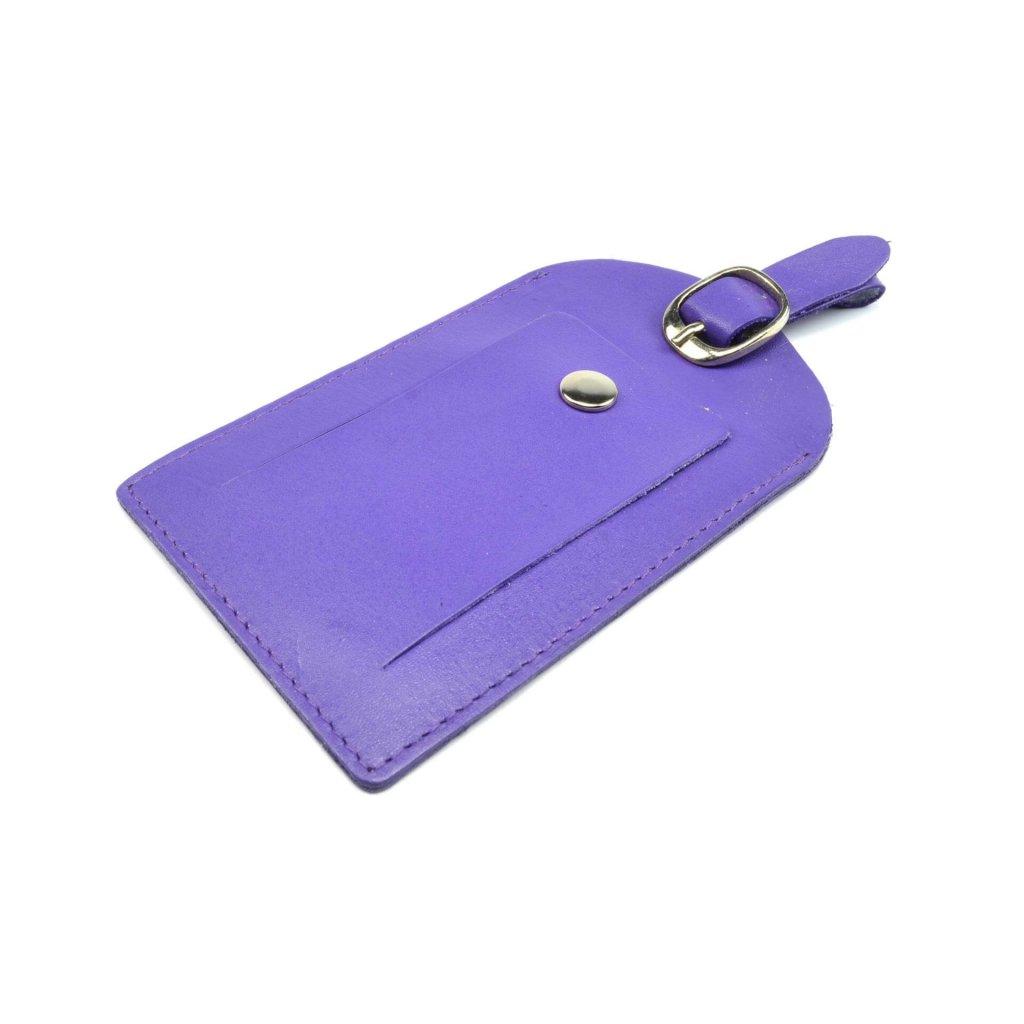 Kožená luxusní visačka na kufr