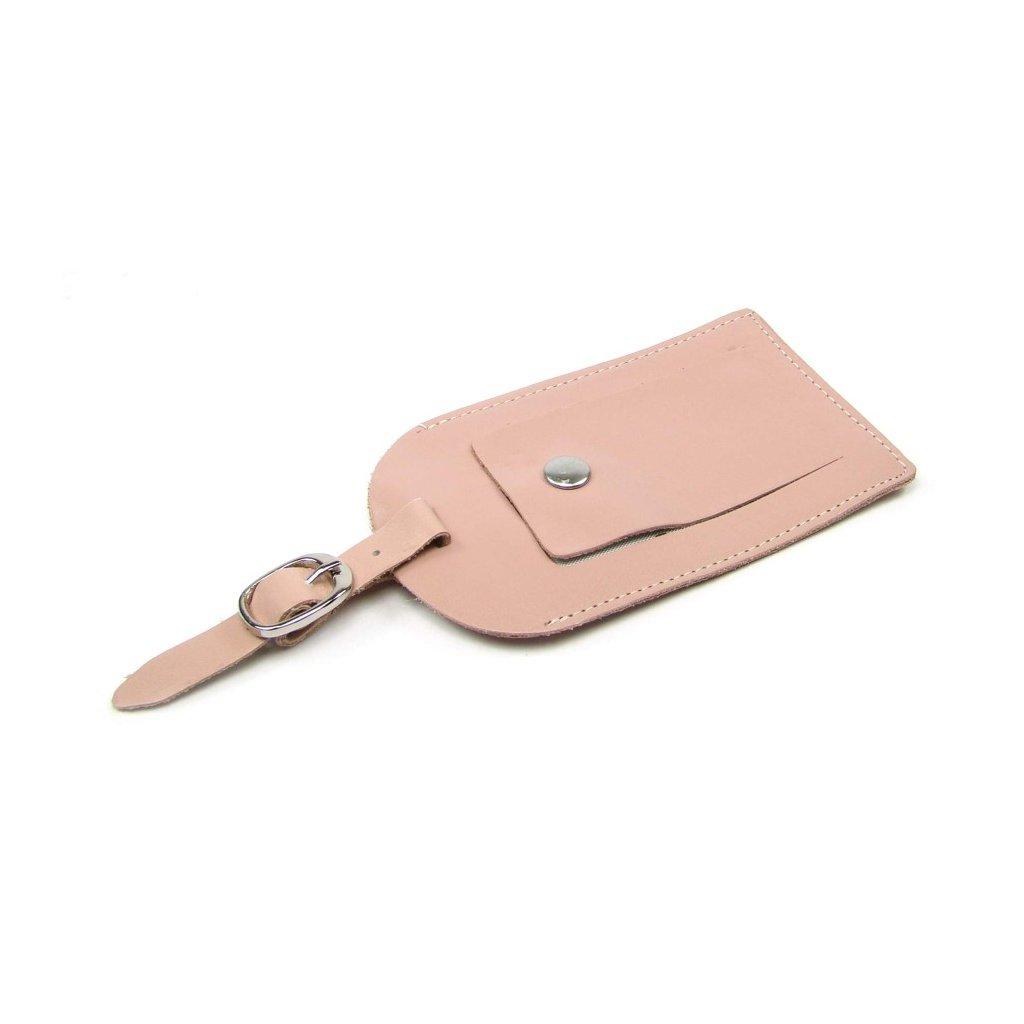 Kožená visačka na kufr luxusní - 1
