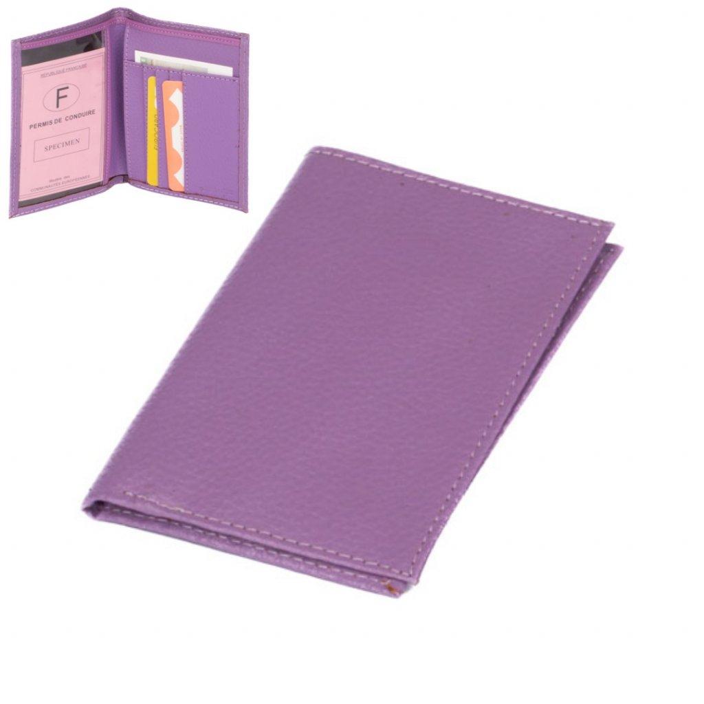 Pouzdro na karty fialové - 1