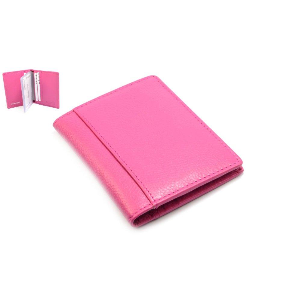 Pouzdro na karty růžové