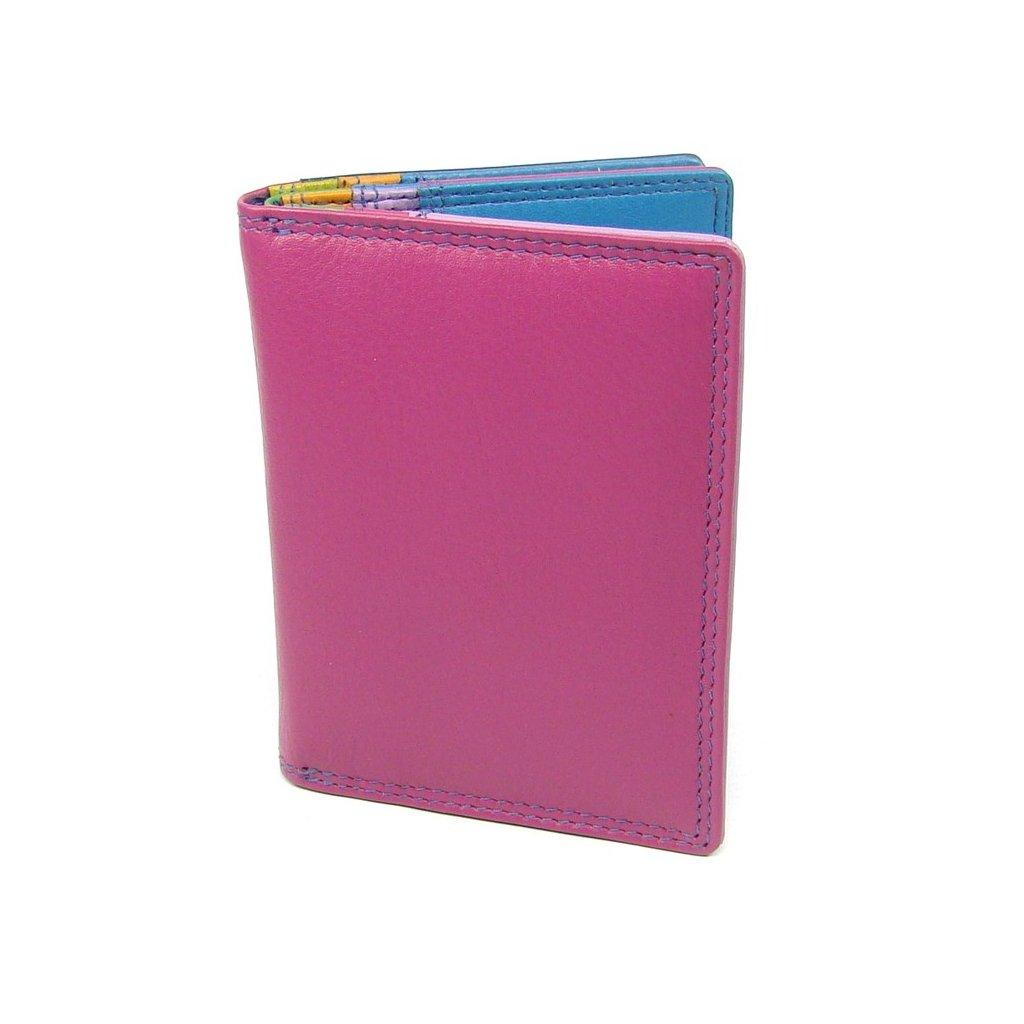 Pouzdro na kreditní karty a vizitky růžové