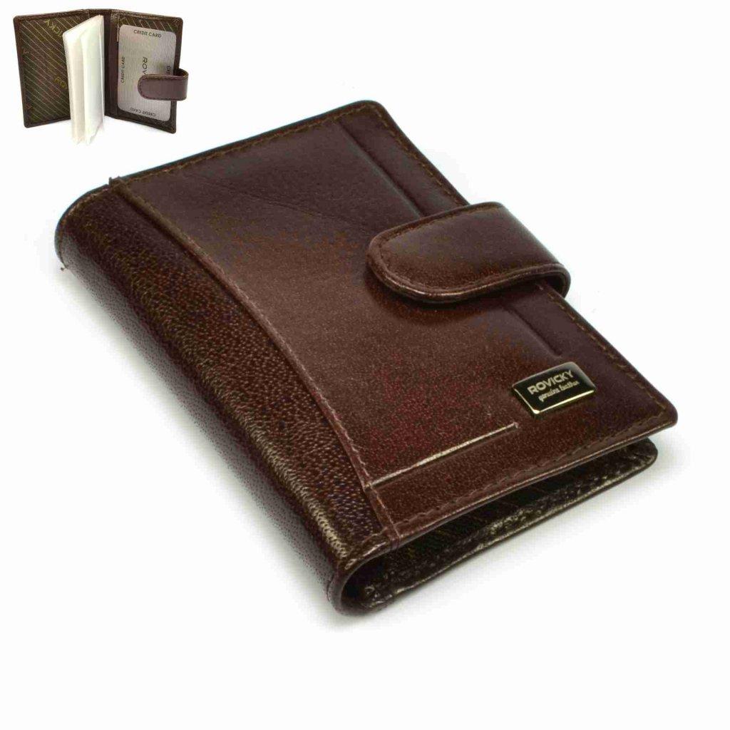 Luxusní kožené velké pouzdro na karty - 1