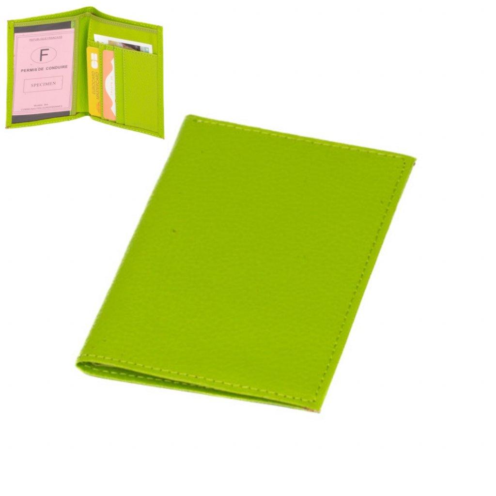 Pouzdro na karty nebo vizitky zelené