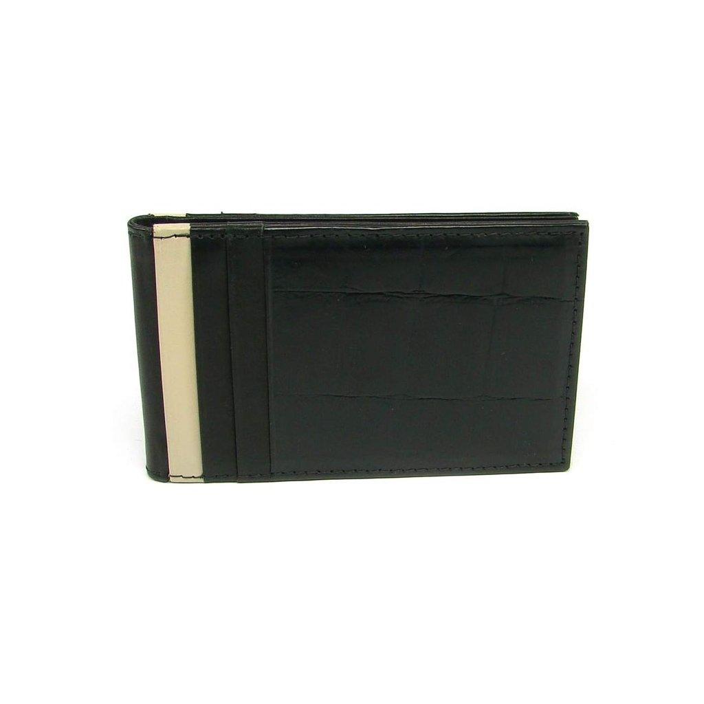Kožené pouzdro na karty černé
