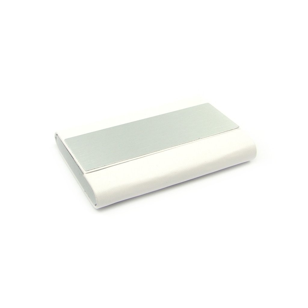 Pouzdro na karty z kovu bílé - 2