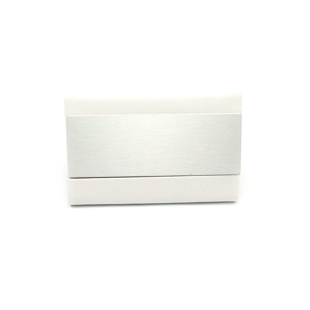 Pouzdro na karty z kovu bílé