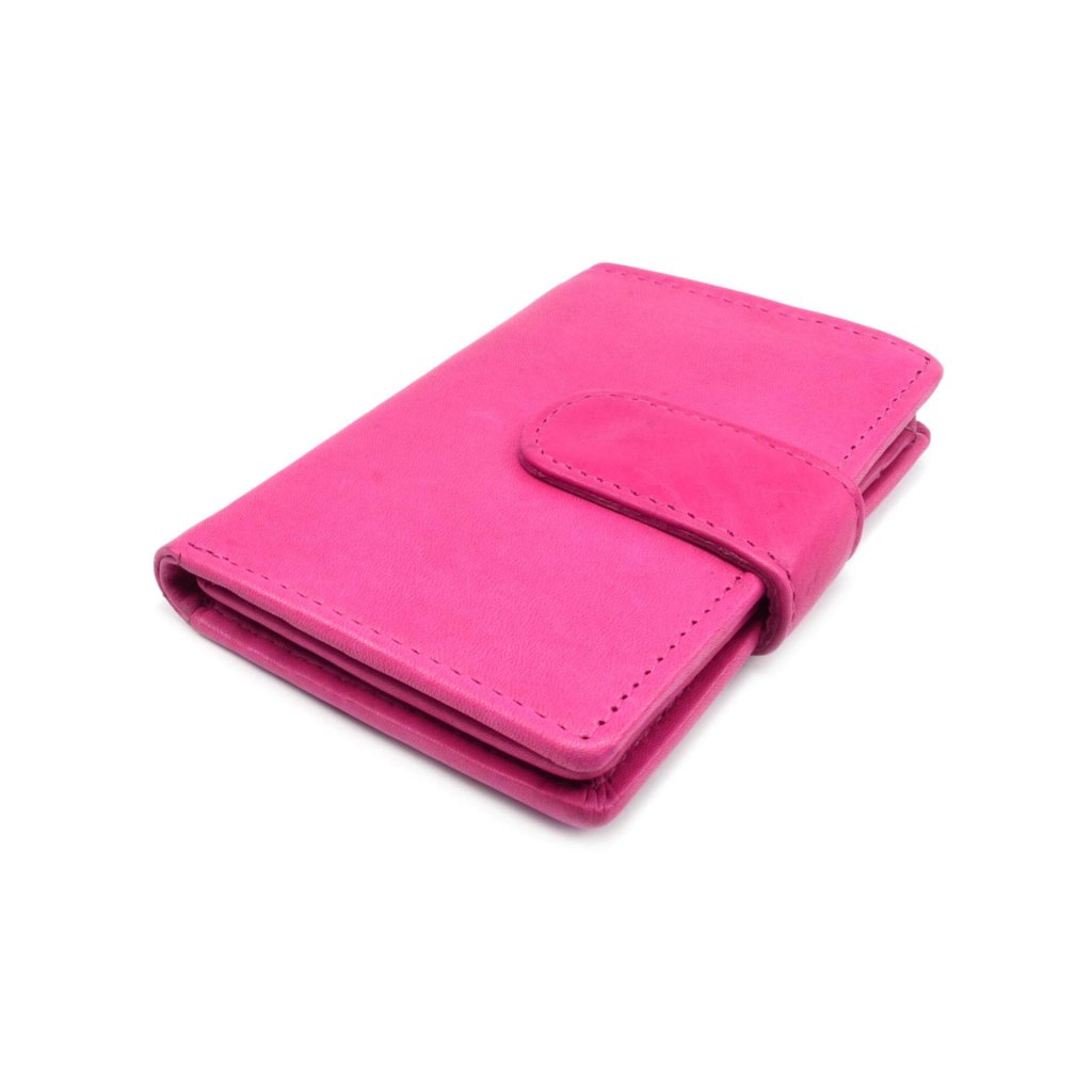 Luxusní kožené pouzdro na karty růžové - 2