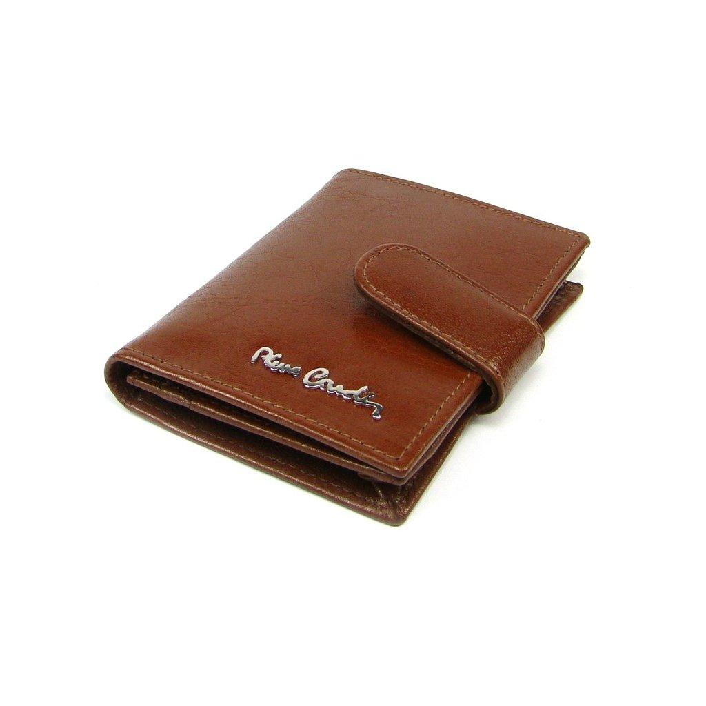 Kožené pouzdro na karty luxusní hnědé - 2