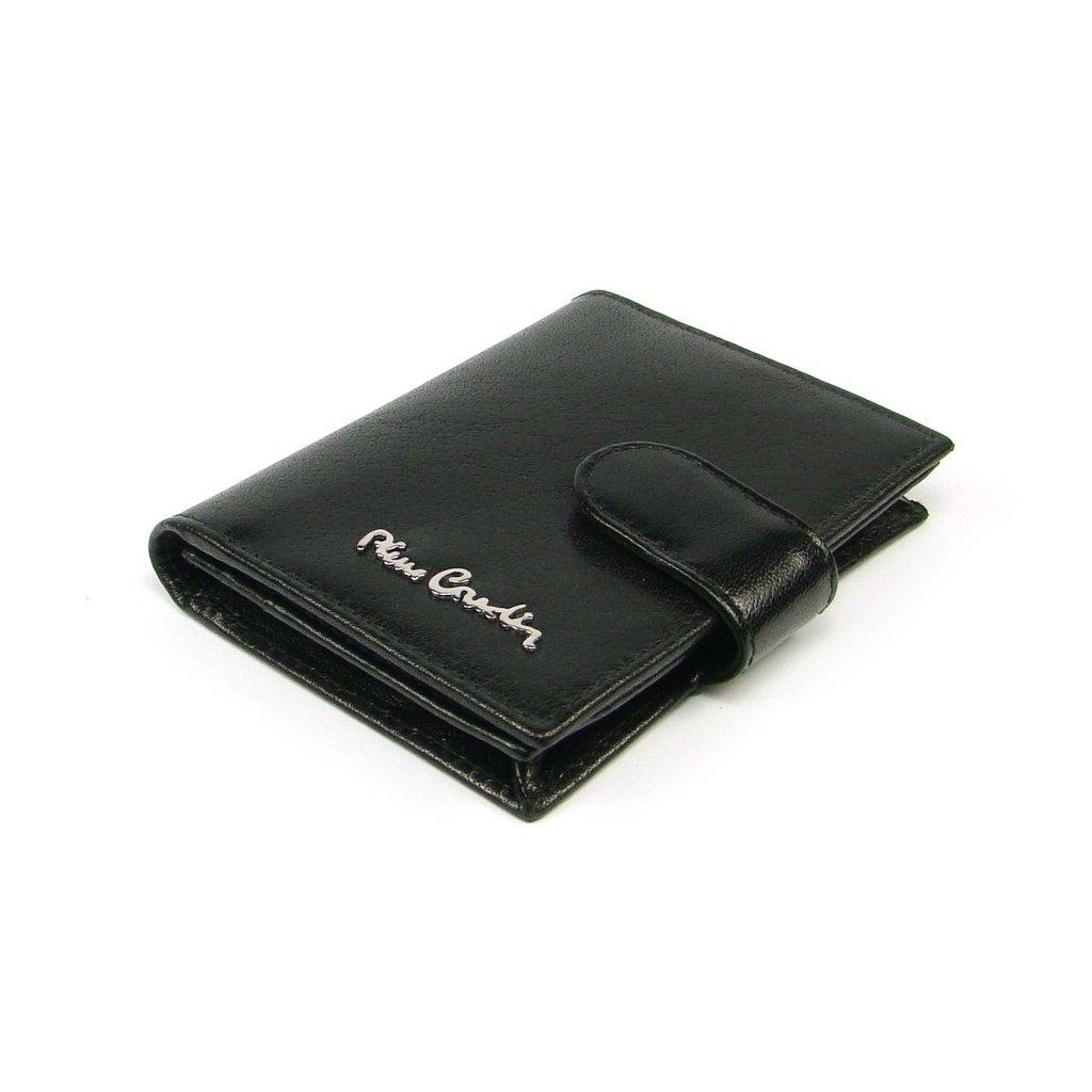 Kožené luxusní pouzdro na karty černé - 2
