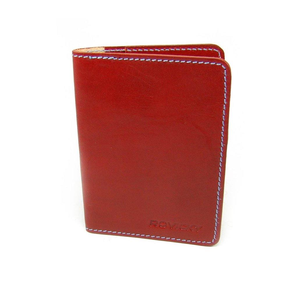 Červená kožená dokladovka