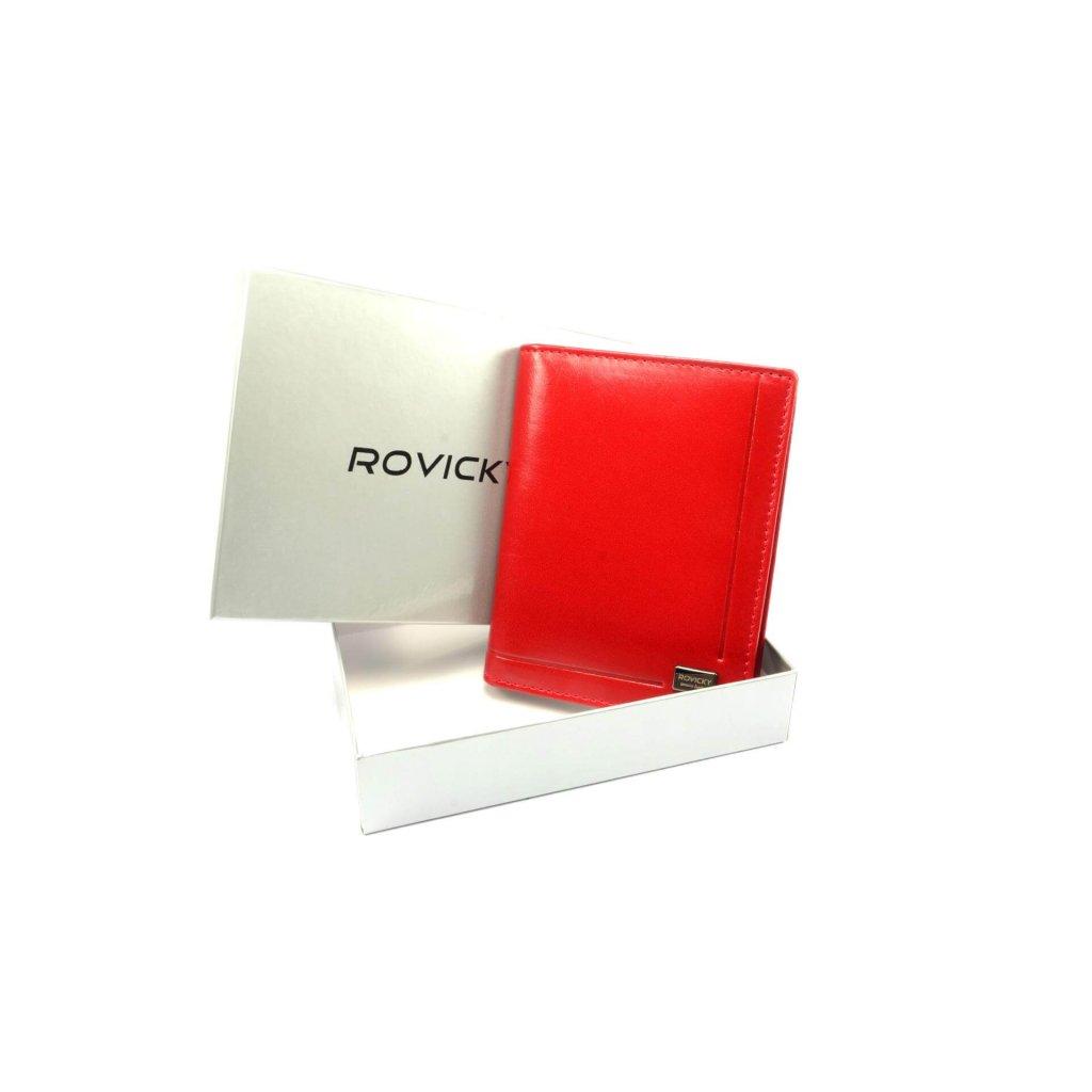 Kožená dokladovka červená - 4