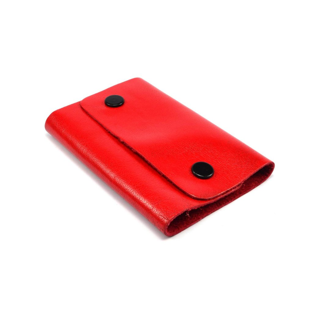 Klíčenka červená kožená - 1