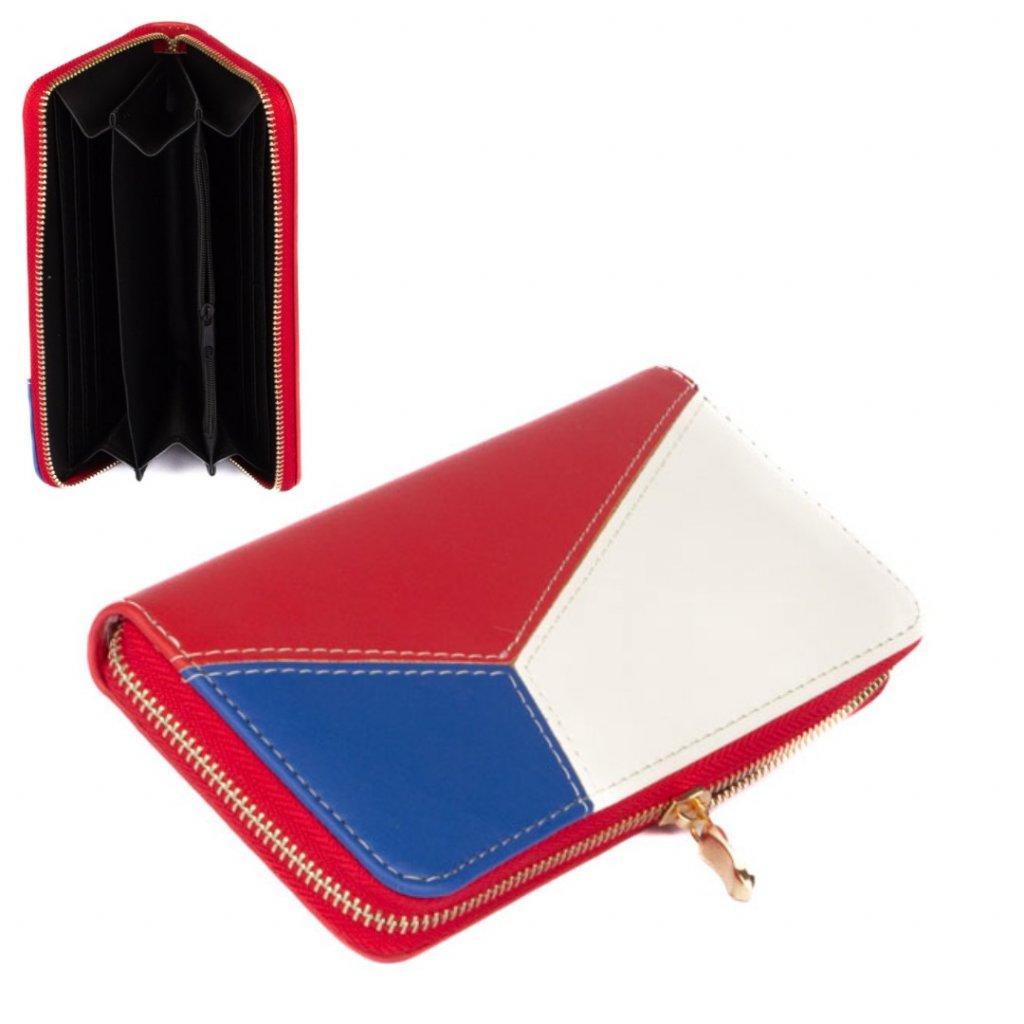 Dámská kožená peněženka s motivem vlajky