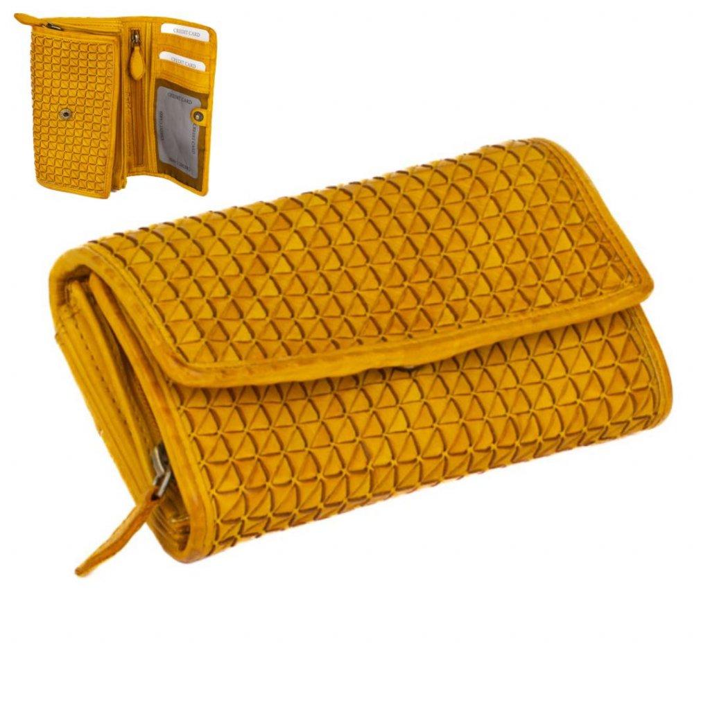 Kožená luxusní peněženka barevná
