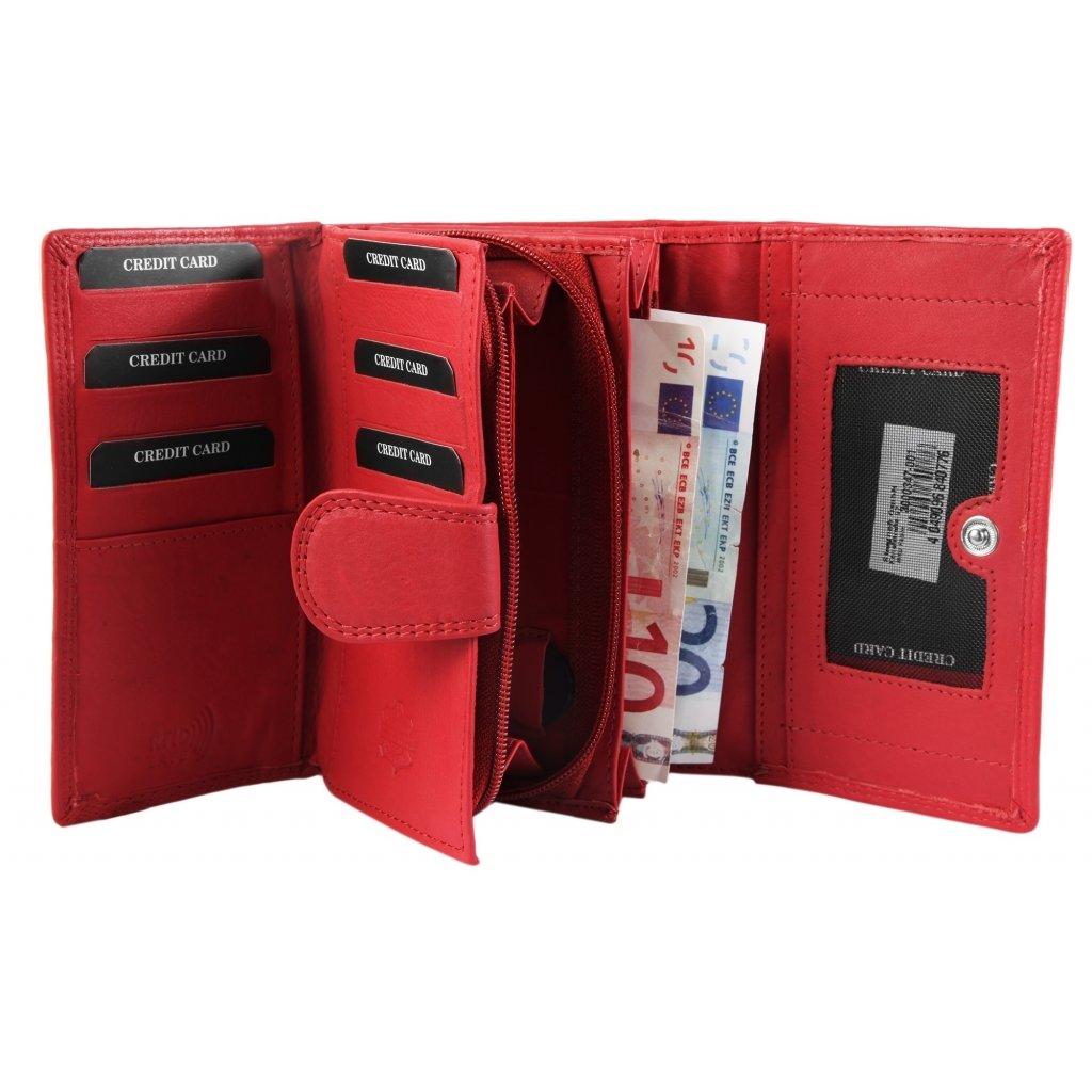 Kožená barevná luxusní peněženka - 2