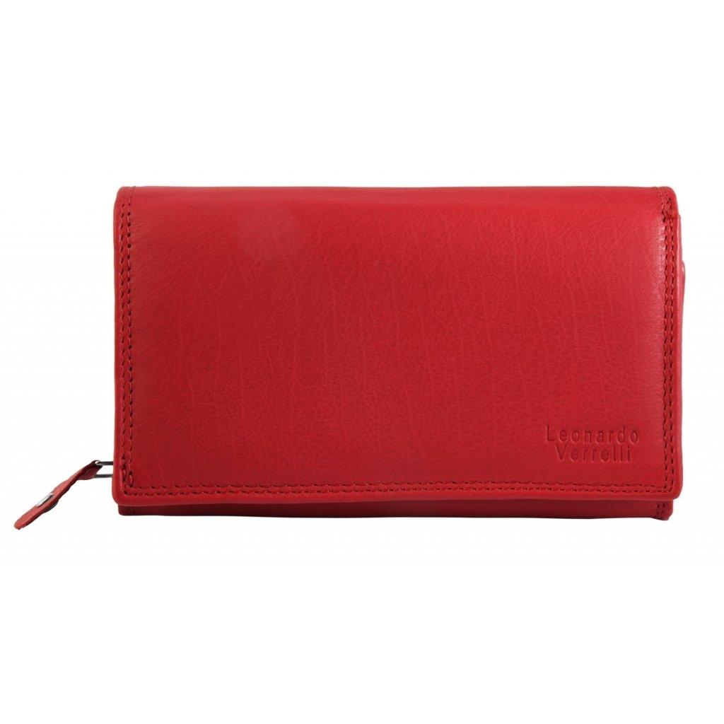 Kožená barevná luxusní peněženka