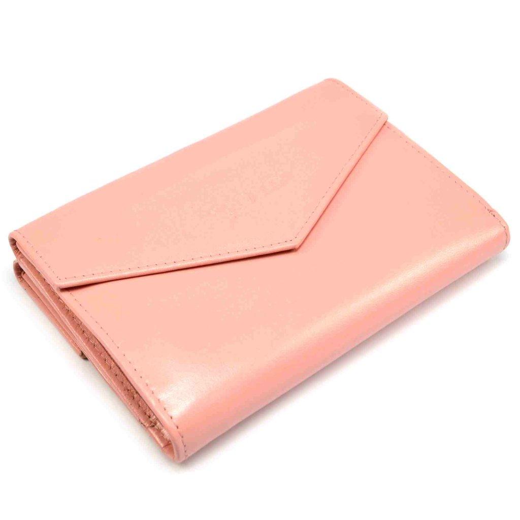 Růžová dámská peněženka kožená - 2