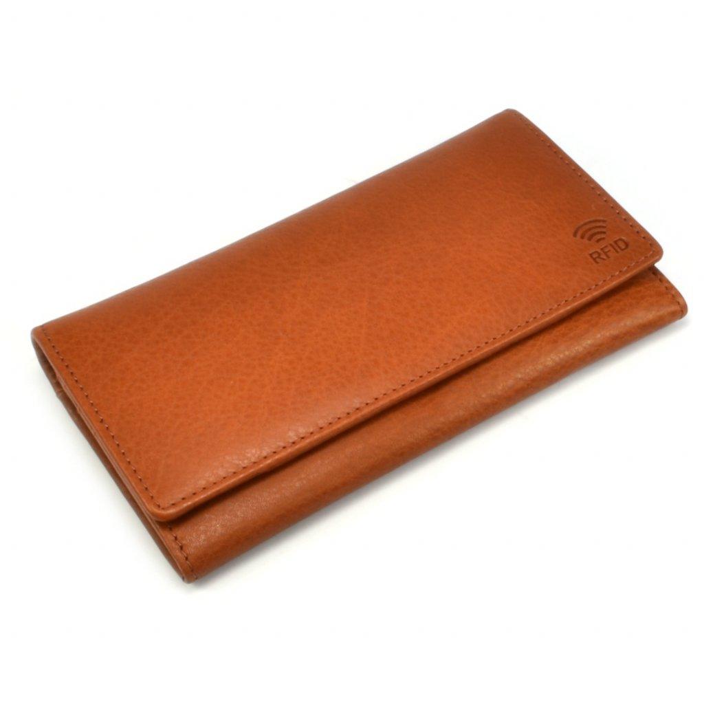 Dámská kožená peněženka hnědá - 2