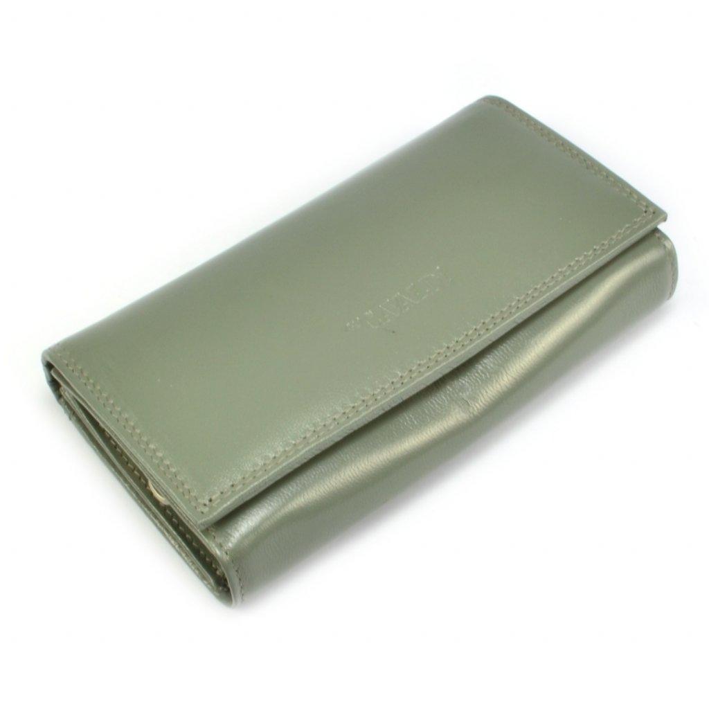 Kožená peněženka dámská s klopou - 2