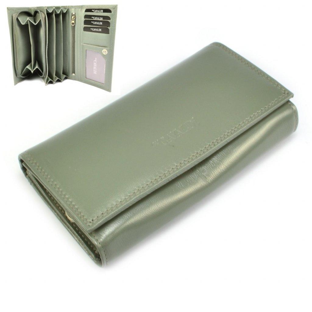 Kožená peněženka dámská s klopou