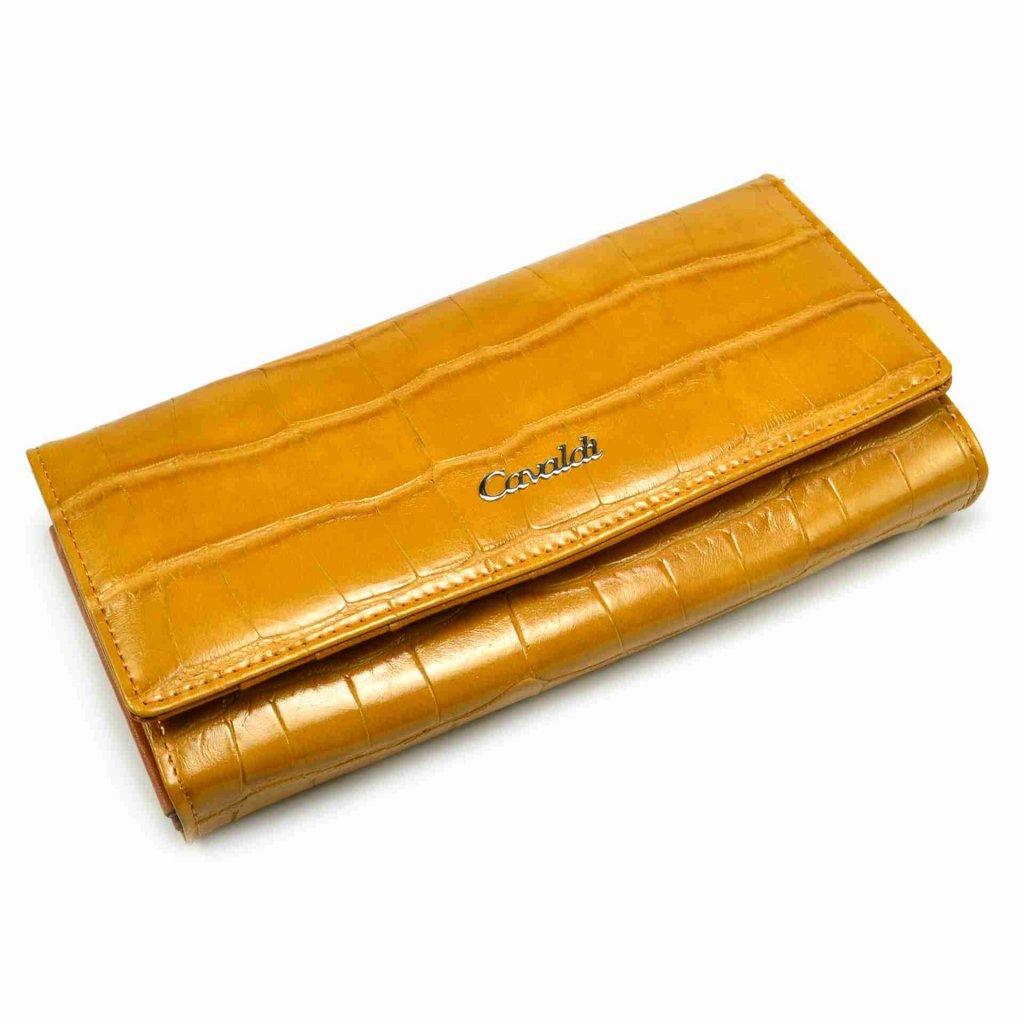 Hnědá peněženka dámská kožená - 2