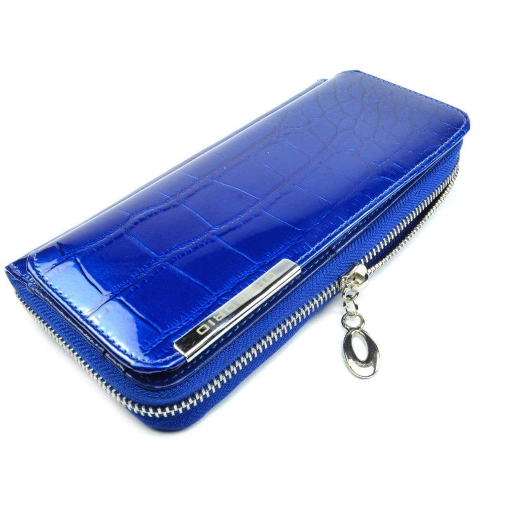 Velká dámská peněženka modrá - 2