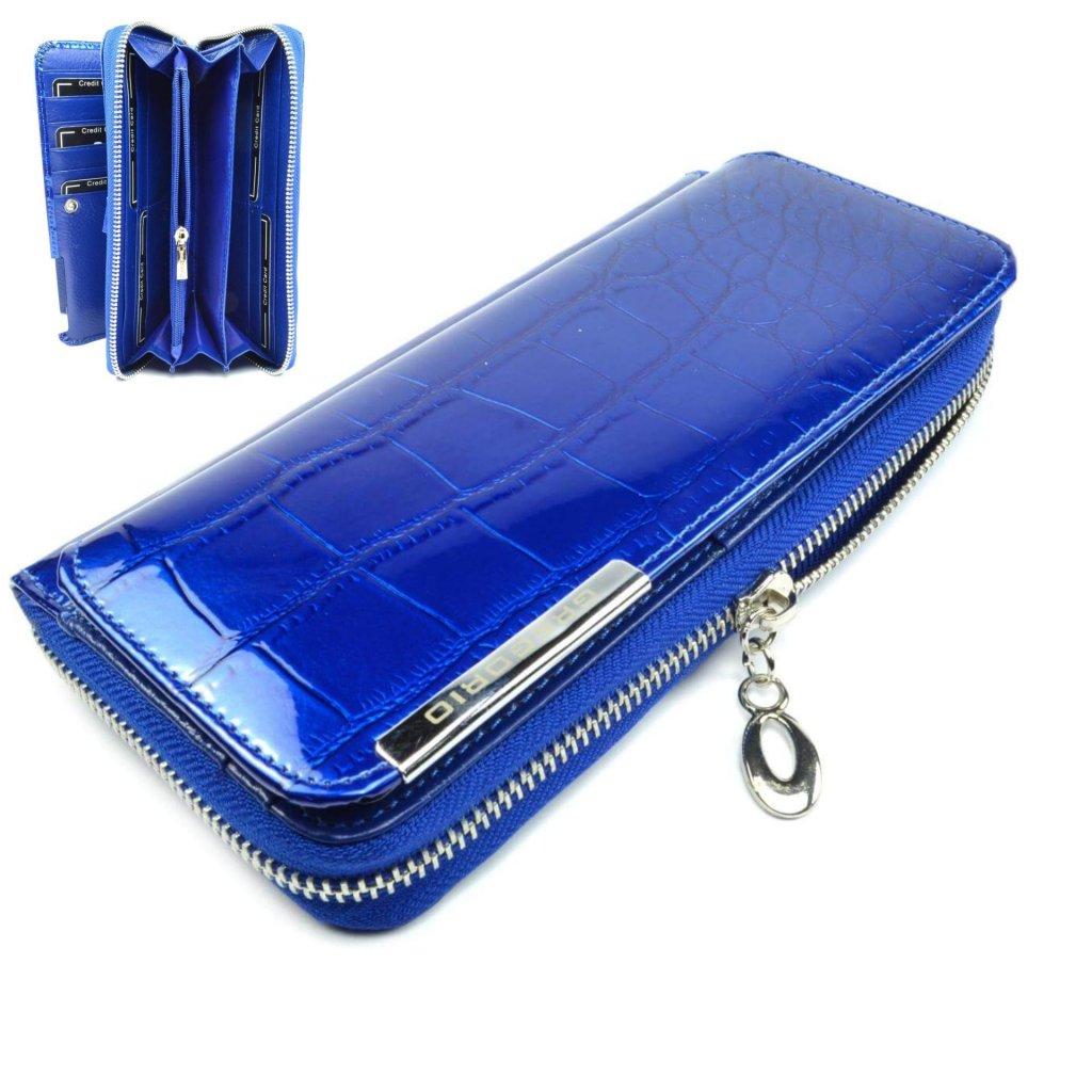 Velká dámská peněženka modrá