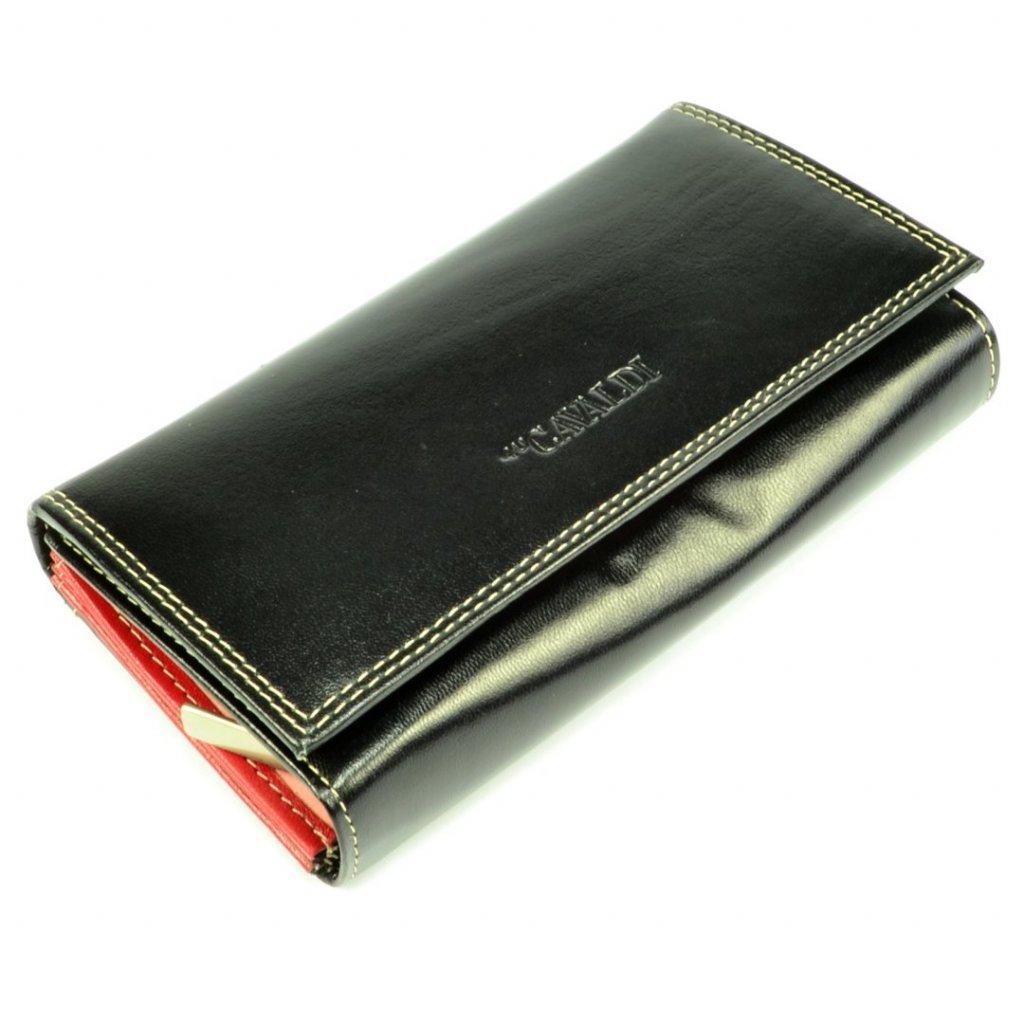 Dámská peněženka černá kožená - 2