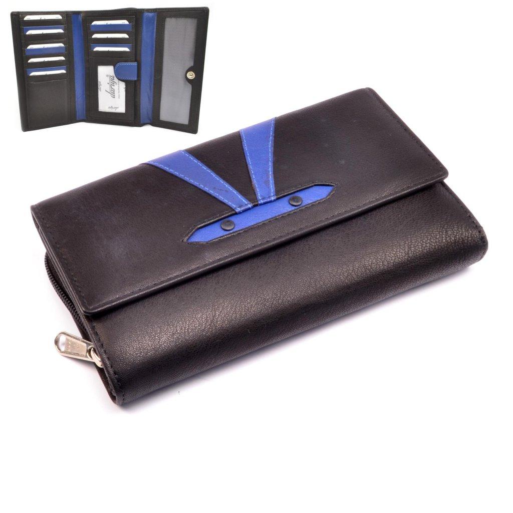 Barevná kožená peněženka dámská