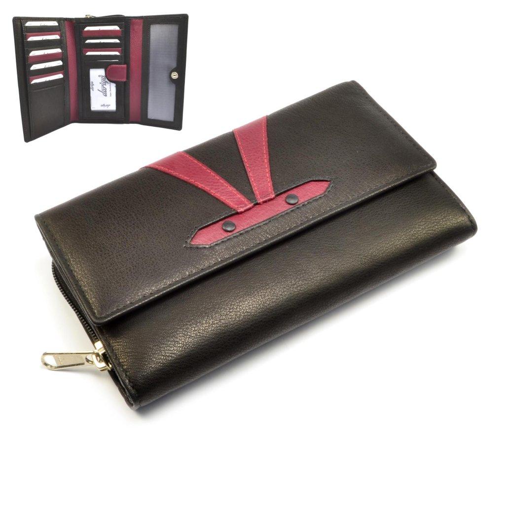 Kožená barevná peněženka dámská