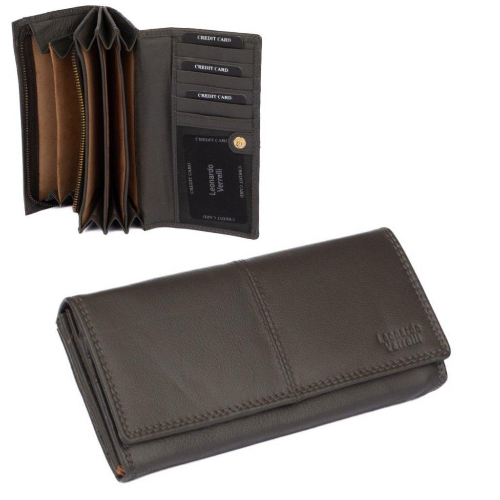 Dámská kožená luxusní peněženka