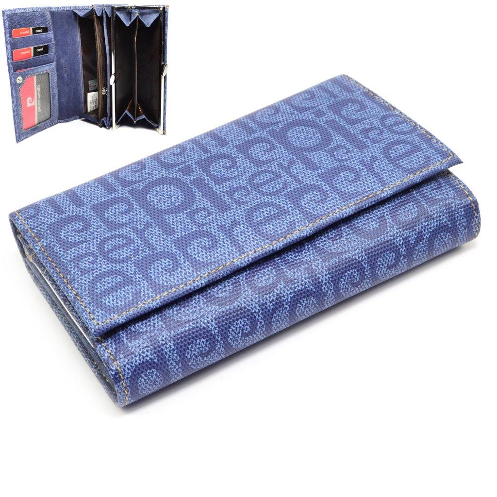 Barevná dámská kožená peněženka