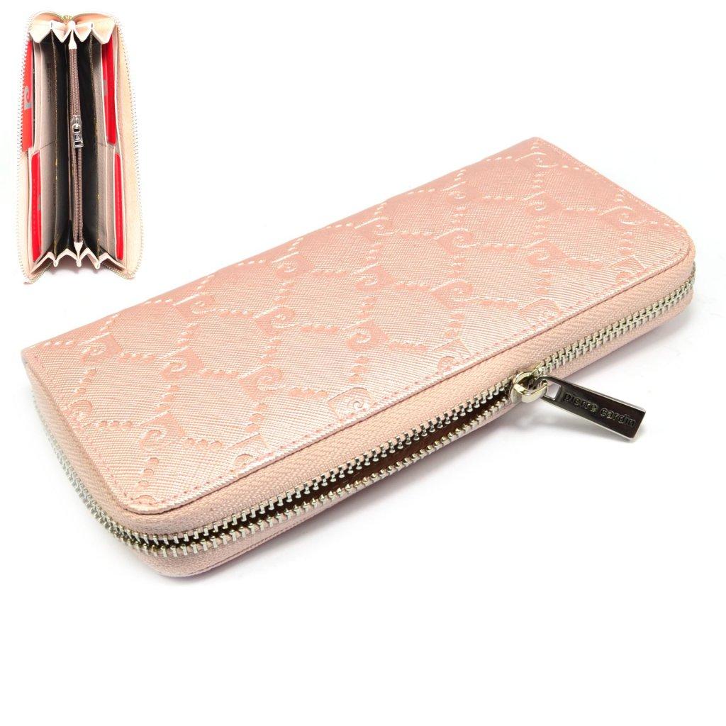 Růžová peněženka dámská